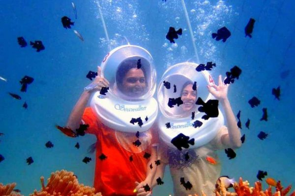 Sea walk in Andamans